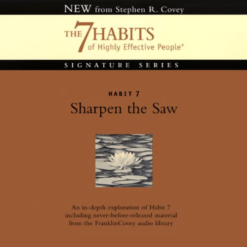 Sharpen the Saw audiobook cover art