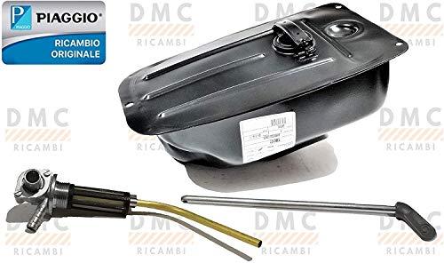 Depósito de gasolina para Piaggio Vespa 50 Special - L N 125 - Vespa ET3 Primavera con grifo y barra original Piaggio