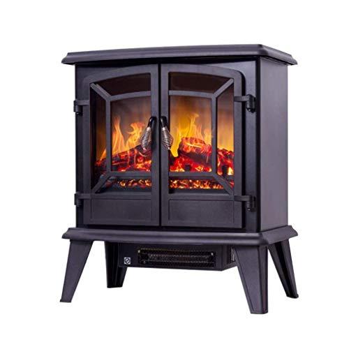 Un calentadorUn ventilador de calefacción 1400W realista llama efecto calentador eléctrica independiente de registro eléctrico portátil estufa de leña efecto panorámico Ventana de observación