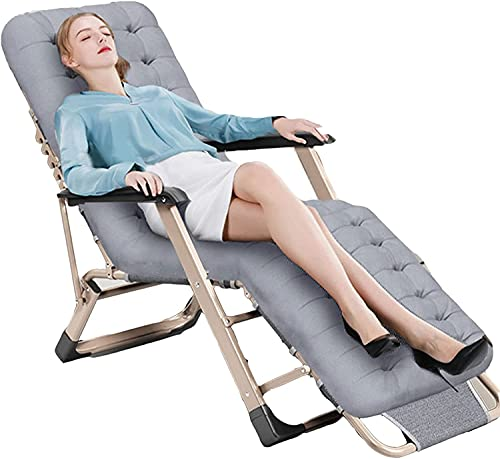 JAKWBR Zero Gravity Lounge - Silla acolchada para oficina, sillón reclinable de patio, sillas reclinables ajustables de 5 marchas, para patio trasero, jardín junto a la piscina