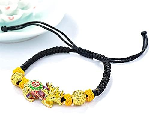 Cuentas de arte de piedras preciosas de la niña Feng Shui Color Cambiar Pixiu Pi Yao Pulsera Vietnamita oro ajustable cordón CAI / Wealth Mark Prosperity Amuleto Bangle Talisman Para Protección Dinero