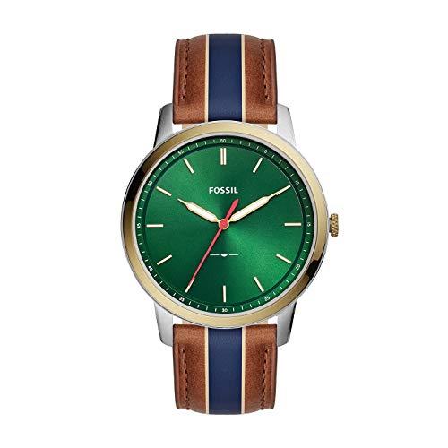 Fossil Herren Analog Quarz Uhr mit Leder Armband FS5550