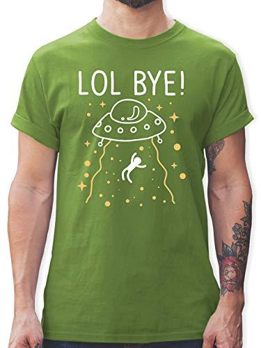 Nerds & Geeks - LOL Bye! - weiß - L - Hellgrün - Gamer - L190 - Tshirt Herren und Männer T-Shirts