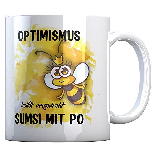 Tassenbude Tasse mit lustigem Spruch Bienen-Motiv
