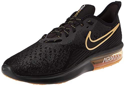 NIKE AIR MAX SEQUENT 4 Sports Shoes Sneaker black/gold AO4485-005, EU Shoe Size:46 EU