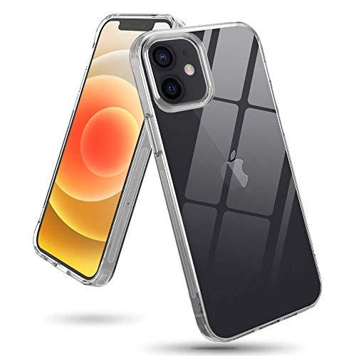 wsky Hülle Kompatibel mit iPhone 12 Mini (5,4 Zoll), Transparent TPU Silikon Handyhülle, New Edition Anti-Gele, Durchsichtige Stoßfest Slim Weich Dünn Schutzhülle Hülle für 12 Mini