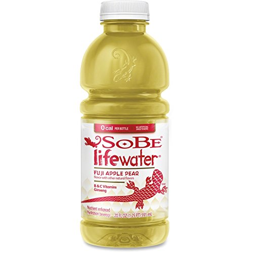 Sobe Lifewater Fuji Apple Pear Water, 20 Ounce (12 Bottles)