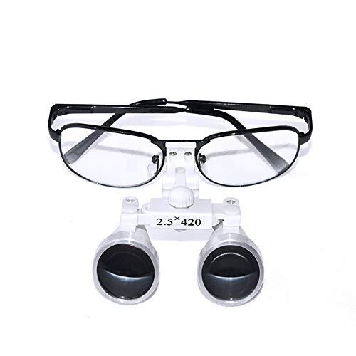 Nicekko tandheelkundige chirurgische tulpen tandarts medische verrekijker vergroting, hoofdband vergrootglas (420Mm) werkafstand twee-weg aanpassing bril