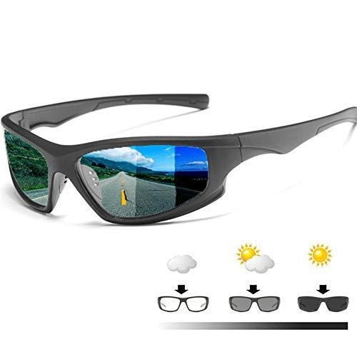 Gafas De Sol para Hombres, Gafas De Sol Fotocromáticas Polarizadas, Adecuadas para Gafas De Sol De Color De Viaje De Pesca Deportiva Al Aire Libre De Moda