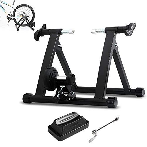 DNNAL Roller Bike Training, Premium Steel Bike Indoor Heimtrainer Stationäres Training Fahrradtrainer Stand