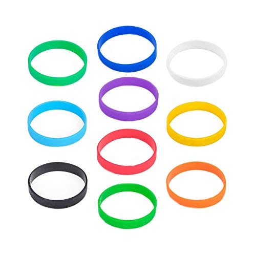 Silicone Wristband, 10Pcs Men and Women Sports Party Decoration Universal Bracelet, Multicolor