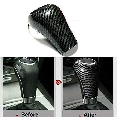 LuckyMao Automobil-Schaltknauf Carbon-Faser-Schaltknauf Abdeckung for Mercedes-Benz W204 W212 A C E G GLS Klasse Schaltknauf