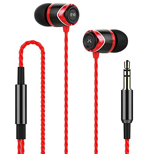 SoundMAGIC E10 High Fidelity Kopfhörer Smartphone Earbuds In Ear Kopfhörer Hochwertige Ohrhörer mit Noise Reduction - Rot