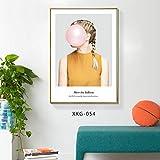 Pintura Decorativa nórdica Moderna Sala de Estar Minimalista Pintura del Hotel Cama y sofá sofá decoración de la Pared Mural Q 40 * 60 cm