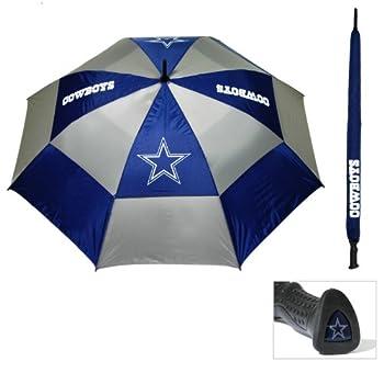 Team Golf NFL 62  Golf Umbrella with Protective Sheath Double Canopy Wind Protection Design Auto Open Button Dallas Cowboys