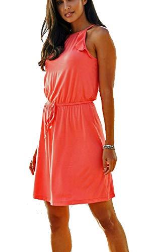 Markenware Sommerkleid Jersey-Kleid Gr. 44/46 u. 48/50 Strandkleid Hummer mit Gürtel 968779 (44/46)