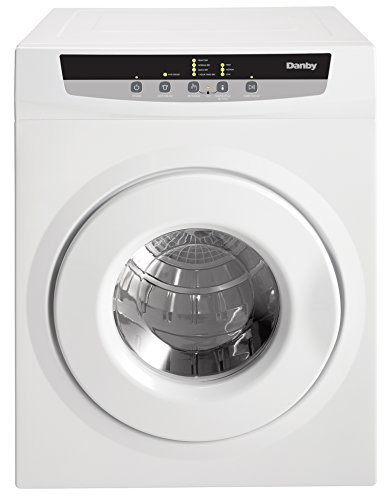 Danby DDY060WDB 13.2 lbs. Front Load Portable Electric Dryer with Stainless Steel Tub, 4 Dry Cycles and 3 Temperature Settings, Digital Control with Lock Function, White