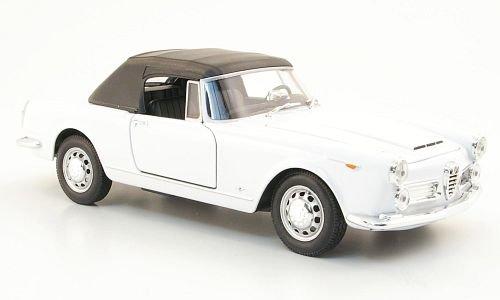 Alfa Romeo Spider 2600, weiss, 1960, Modellauto, Fertigmodell, Welly 1:24