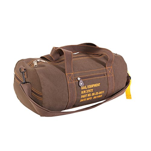 Rothco Canvas Equipment Bag, Earth Brown