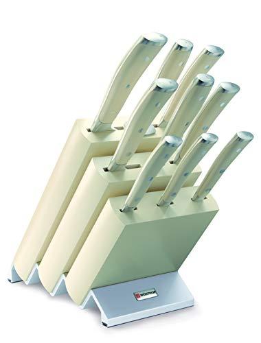 Wüsthof messenblok met 9 delen, staal, wit, 41,5 x 28 x 16 cm, 10 stuks