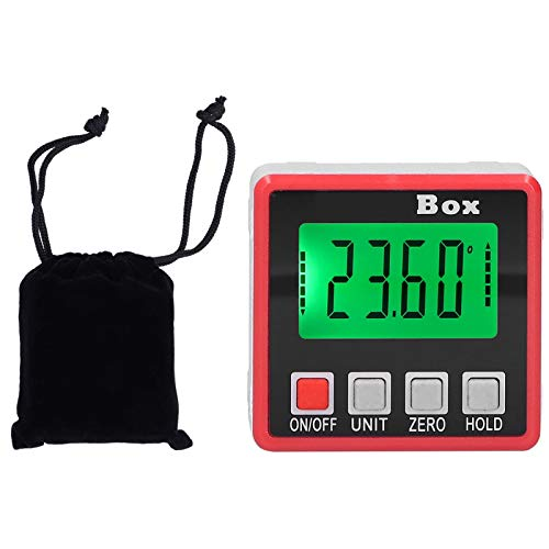 Les-Theresa Inclinómetro Digital de PVC portátil Mini medidor de ángulo de Nivel Transportador electrónico Medición de 360 Grados