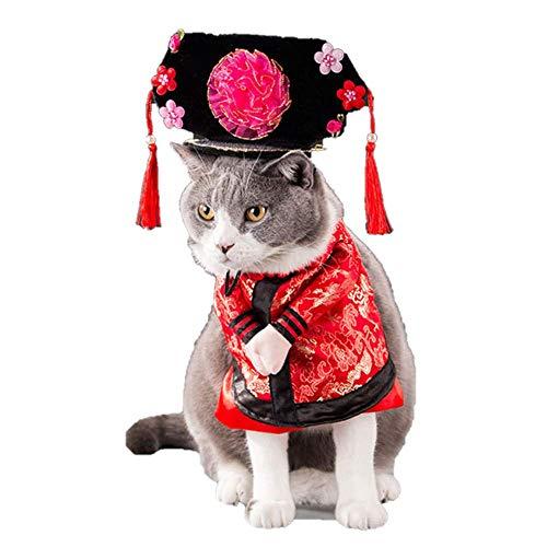 DERKOLY Disfraz de princesa china para Halloween, disfraz de princesa emperador chino, disfraz de perro, gato, ropa 1# L