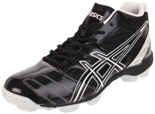ASICS Men's GEL-Prevail Mid Lacrosse Shoe,Black/Silver,15 M US