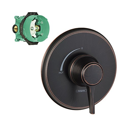 Hansgrohe K15404-01850RB-2 C - Embellecedor de equilibrio de presión con acabado rugoso, color bronce