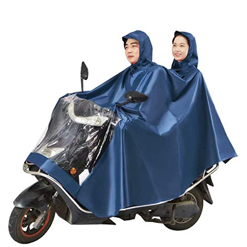 JYTB Oxford Motorcycling Anti-Fog Rainwear coverJXSD con Ranuras de Espejo Moto Poncho...