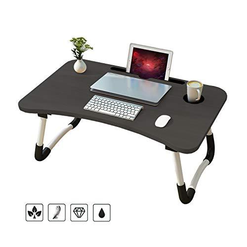 x 1.5-26 cm 60 x 40 cm Nero Nero 60 Regolabile L x 40 Pieghevole B H Scrivania per Laptop Wa-Very Lap per Letto o Divano