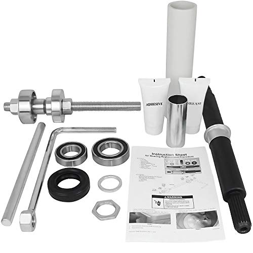 Cabrio Replacement Complete Bearing Kit Assembly and Tool Set Package W10435302 and W10447783 For Whirlpool