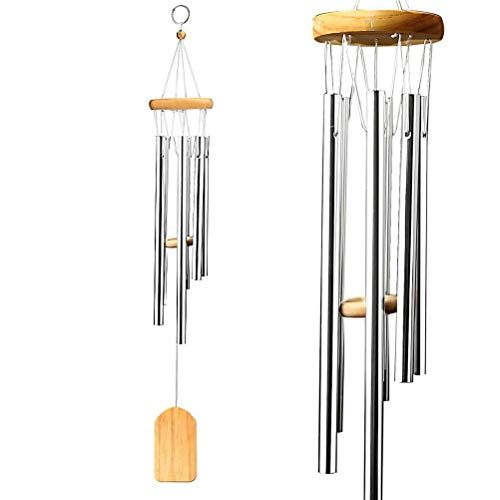 nuosen Windspiel mit Musik-Glocken, Kunsthandwerk, mit Holzpendel – für den Außenbereich