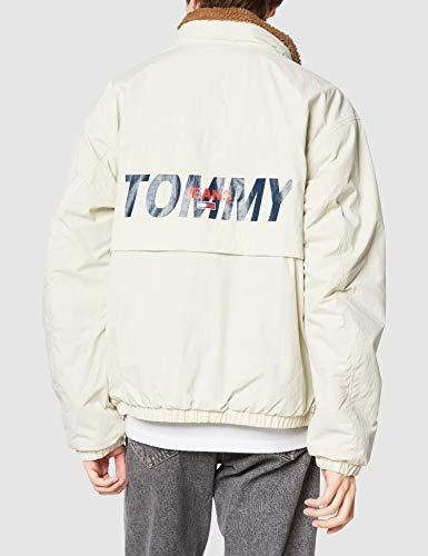 (トミーヒルフィガー)TOMMYHILFIGERリバーシブルシェルパジャケットDM09529Mホワイト