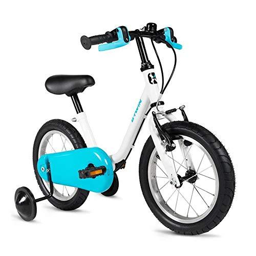 "WFF 子供用自転車 子供のための14""女の子と男の子子供自転車トレーニングホイール調節ハンドルバーサドル、クロスブレース 屋外自転車"