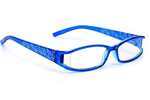 morefaz Damen Lesebrille Brille Laub Retro Vintage +0.50 +0.75 +1.0 +1.5 +2.0 +2.5 +3.00 +4.00 Reading Glasses MFAZ Ltd (+1.00, Blue)