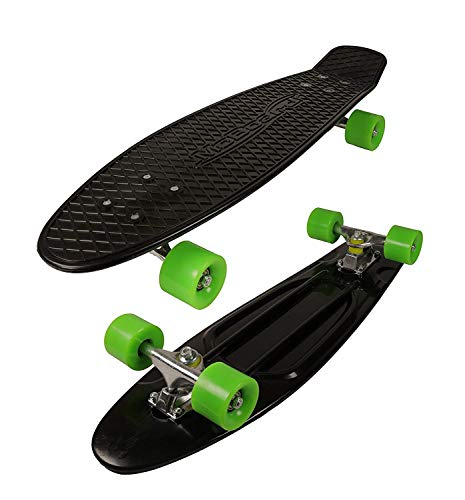 MoBoard 27' Graphic Complete Skateboard, Black/Green