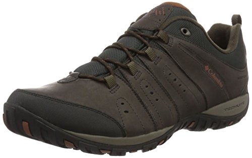 Columbia Woodburn II, Zapatos Impermeables Hombre, Marrón (Nori, Tangy Orange), 42.5 EU