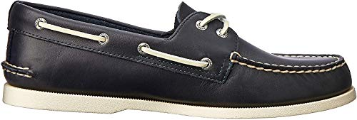 Sperry Mens A/O 2-Eye Boat Shoe, Navy, 10.5