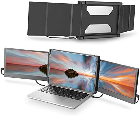 Teamgee Portable Monitor for Laptop, Monitor Extender for Dual Monitor Display, Laptop Screen Laptop Workstation Portable Monitor HDMI/ 1080p/ for 13-16″ Mac Windows Chrome Laptop (Triple Monitor)