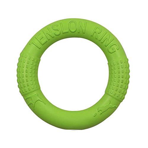 WINSTON-UK Hunde-Frisbee-Spielzeug, Haustier-Ziehring, schwimmend, fliegende Hundescheibe, Spielzeug, Sommer, Haustier-Training, Outdoor, langlebig, Kauspielzeug für kleine und mittelgroße Hunde, grün