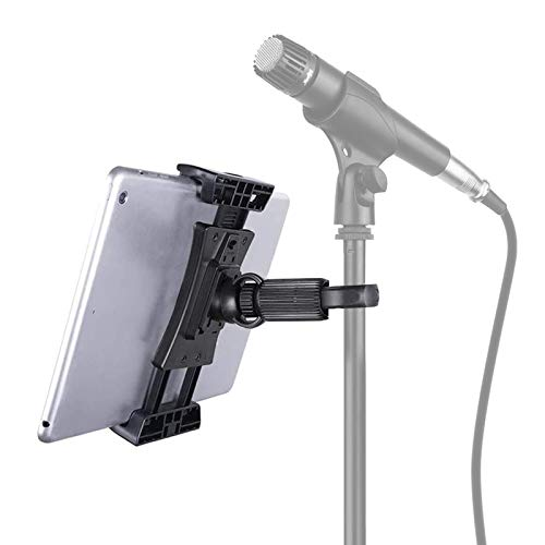 "Tensun Supporto Tablet per Microfono, Regolabile a 360° Musica Microfono Stand Supporto Tablet per iPad, iPad Pro, iPad Mini, iPad Air 4.7-12.9"" Tablet Smartphone"