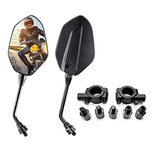 Par de Espejos Retrovisores Universales con Abrazadera Retrovisores Moto Universal para Street Bike moto
