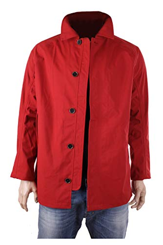 Timberland Giacca Uomo Impermeabile STRACCIATO MOUNTAIN MAC (Medium, Rosso)