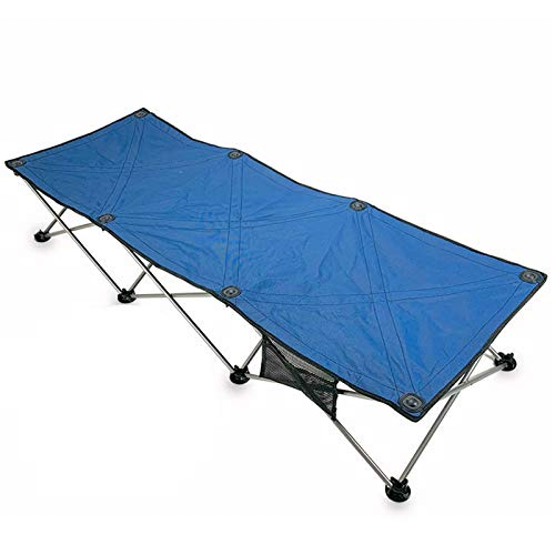 Camping Bed Camping Folding Camping Bed For Fishing Festivals And Camping Lightweight And Easy To Store Lightweight and Portable (Color : Blue, Size : 185x68x35cm)