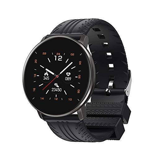 OH Cy10 Smart Watch, Smartwatch de la Pantalla Táctil Redonda de 1.3', con un Seguimiento de la Fitness Del Monitor de la Frecuencia Cardíaca Del Podómetro, Compatible con Ios Amp;