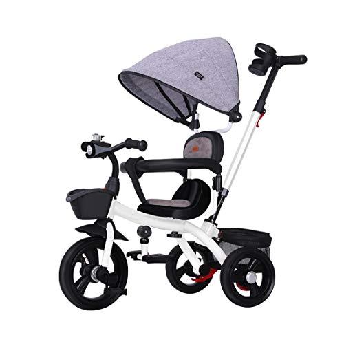 Adulto por cuatro a carro de tres ruedas con asientos reclinables triciclo for niños compra de los niños, puede ser utilizado como un anillo de 5 puntos de regalo caja de almacenamiento toldo completo