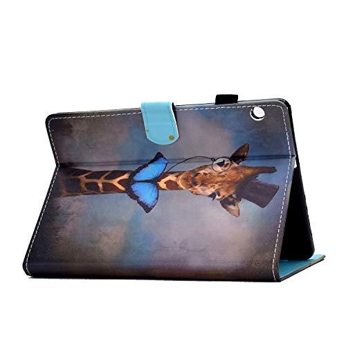 Bspring Huawei Mediapad T3 10 Hülle Case - Ultra Dünn Superleicht Flip Schutzhülle mit Zwei Einstellbarem Standfunktion für Huawei MediaPad T3 (9,6 Zoll) Tablet-PC,Hirsch - 5