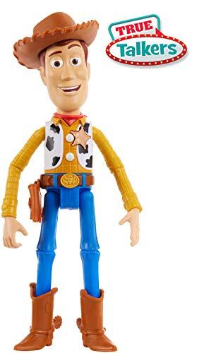 Mattel GFR27 - Toy Story 4 Sprechender Woody deutschsprachig, mit +15 Sätzen, 17 cm Spielzeug Action Figur ab 3 Jahren