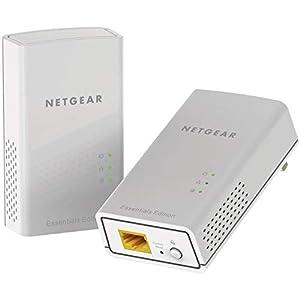 Netgear PL1000-100PES - Kit de adaptadores PLC Powerline Gigabit (1 Puerto Ethernet Gigabit, AC 1000 Mbps), Blanco