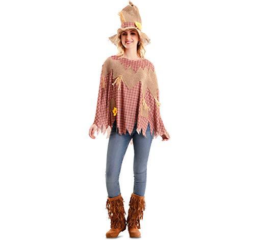 EUROCARNAVALES Disfraz o Poncho de Espantapjaros para Adultos